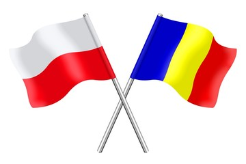 Flags : Poland and Romania