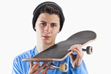 Teenager with a skateboard
