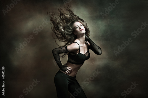 canvas print picture woman hot dance