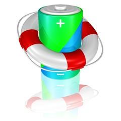 Hilfe für die Batterie, Ladezustand kritisch, giftige Abfälle