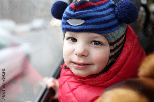 Child at bus