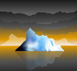 Iceberg and Monsoon time -Vector