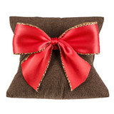 Soft pillow and decorative bow on