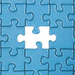 Lücke im Puzzle Thema Problem und Lösung
