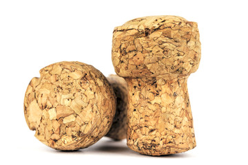 Two corks of a sparkling wine