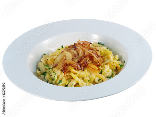 spaetzle with roast onions