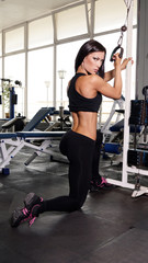 sportive woman making sport at gym