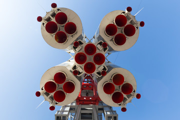 rocket Vostok view from below