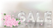 Spring sale banner. vector illustration