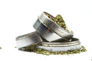 Marijuana, Medical and Recreational Drug White Background