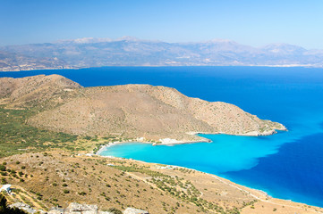 Spectacular scenery from Crete island, Greece