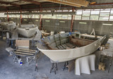 Italy, Boatyard, luxury yachts under construction
