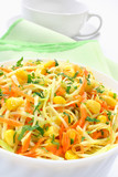 Salad with cabbage, carrots and sweet corn