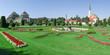 Panoramic of Schonbrunn gardens