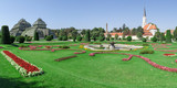Panoramic of Schonbrunn gardens