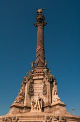 Christopher Columbus Column Statute in Barcelona, Spain