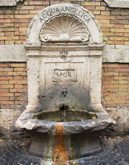 fountain in Vatican, Rome  Italy