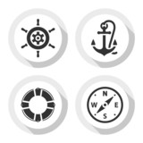 Set of travel flat icons