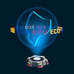 Icon Ecuador Hologramm