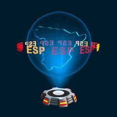 Icon Spanien Hologramm
