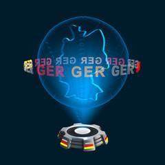 Icon Deutschland Hologramm