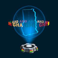 Icon Ghana Hologramm
