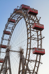 Wiener Riesenrad,ferris wheel in the Prater, Vienna
