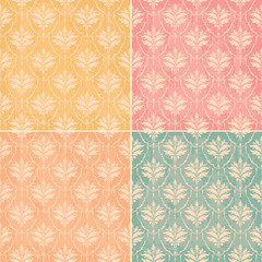 vintage wallpaper seamless set