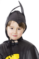 Boy with carnival costume. Little hero - batman