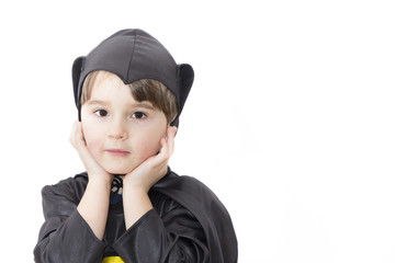 Boy with carnival costume . Little batman.