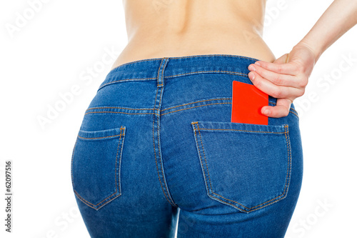 Credit card in jeans