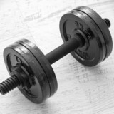 Dumbbell on desk