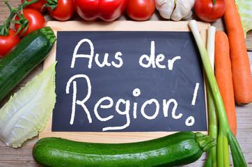 Aus der Region Tafel Gemüse Regional