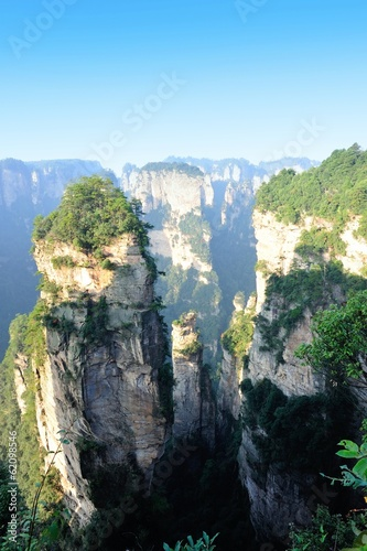 rocky mountains at zhangjiajie national forest park in china