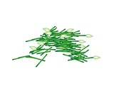 Fresh Chopped Garlic Chives on White Background