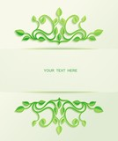 Floral green leaves ornaments with free place for text message