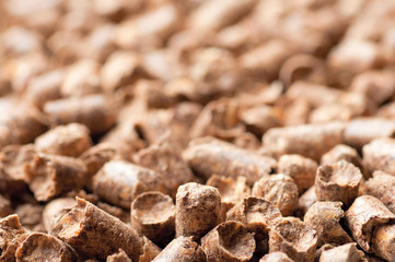 Wood pellet background pattern