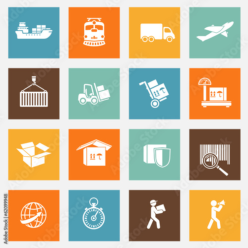 Logistic Services Pictograms Collection