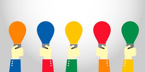 hand show idea bulb