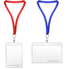 Plastic Vertical And Horizontal Badges.