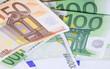 Euro paper on white background