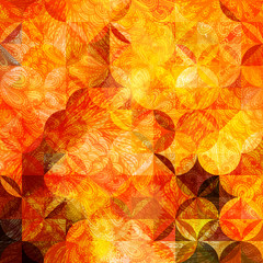 Colorful abstract geometric grunge orange pattern. Eps10