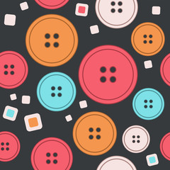 Vector seamless pattern of buttons