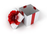 Present box with an elegant bow