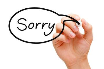 Sorry Speech Bubble Concept