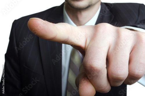 Pointing businessman