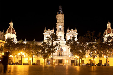 Town Hall building in Valencia