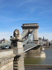 Lion on Budapest bridge