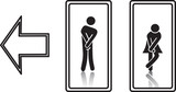funny wc sign. fully editable vector, eps10
