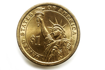 Dollar coin ( United States ) 1달러 동전 ( 미국 )